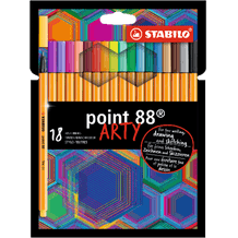 STABILO point 88 ARTY Wallet Assorted Colours Set of 18