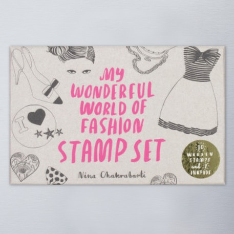 Laurence King My Wonderful World of Fashion Stamp Set | Cass Art