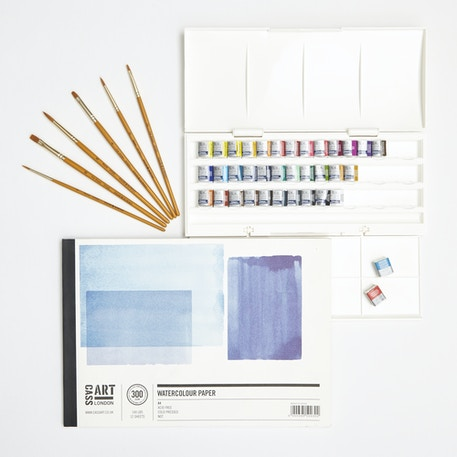 Aspiring Watercolour Starter Set with Paint, Paper & Brushes | Cass Art
