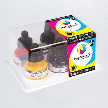 Daler Rowney System 3 Acrylic Ink Set of 6 | Cass Art