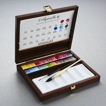 Sennelier Watercolour Wooden Box Set of 24 half pans