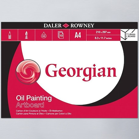 Daler Rowney Georgian Oil Painting Artboard 10 Sheets A4 | Cass Art