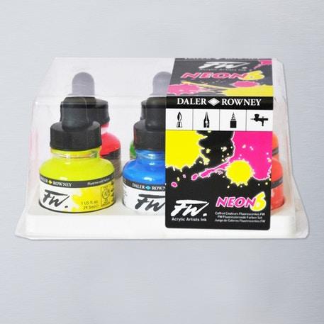 Daler Rowney FW Ink Neon 29.5ml set of 6 | Cass Art
