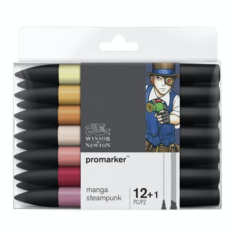 Winsor & Newton ProMarker Manga Steampunk - Set of 12 | Cass Art